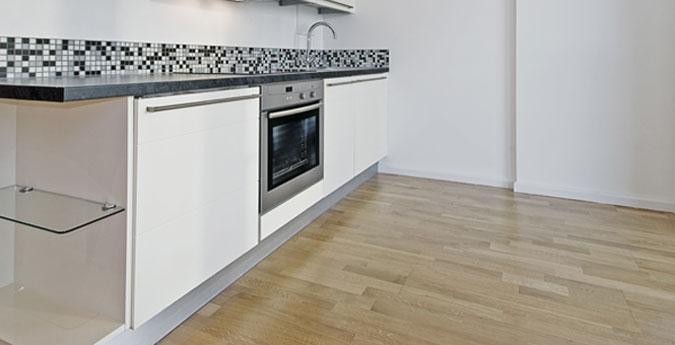 Pavimento in parquet per la cucina