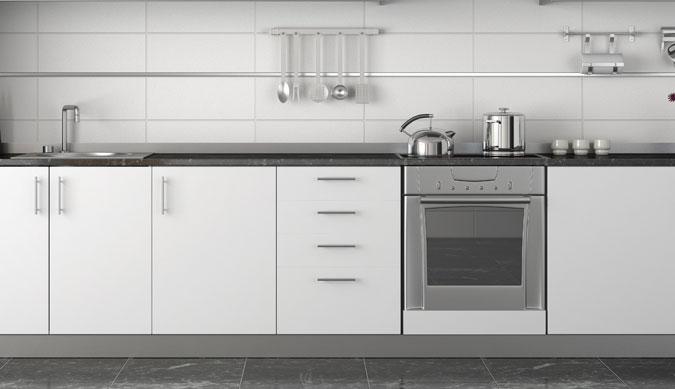 il Granito come pavimento della cucina.