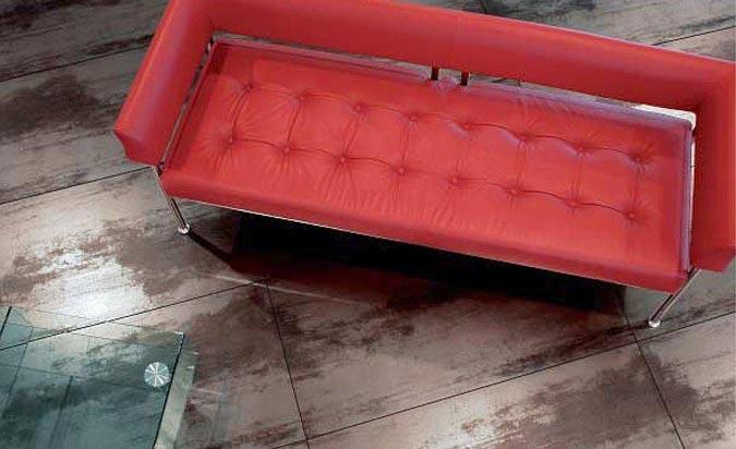 Il pavimento in gres porcellanato effetto metallo - Piastrelle effetto metallo ...