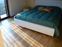 Il parquet in camera da letto
