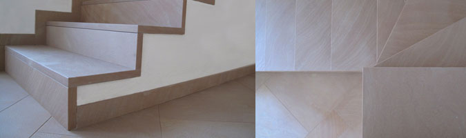 Le scale in quarzite